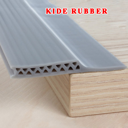 Silicone corrugated door bottom seal